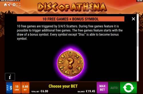 Disc of Athena Big Bonus Slots Free Game Rules