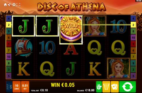 Disc of Athena Big Bonus Slots A winning three of a kind