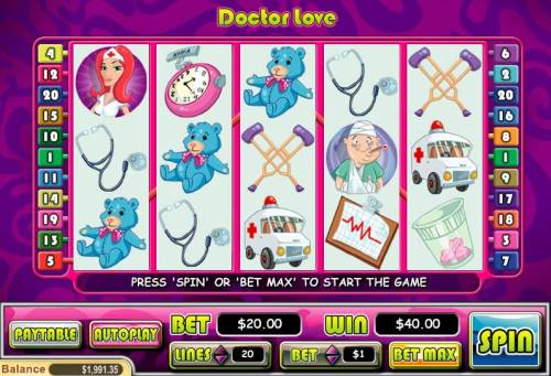 Doctor Love review on Big Bonus Slots