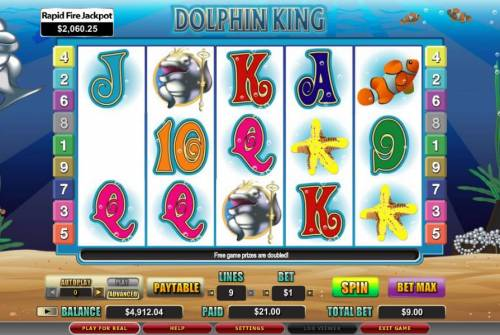 Dolphin King review on Big Bonus Slots
