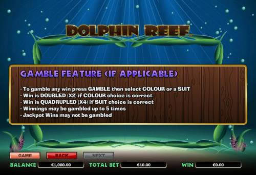 Dolphin Reef review on Big Bonus Slots