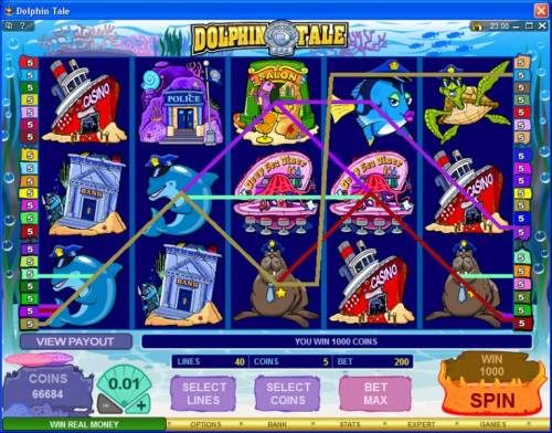 Dolphin Tale review on Big Bonus Slots