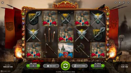 Dominators Big Bonus Slots Main Game Board