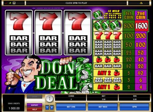 Don Deal review on Big Bonus Slots