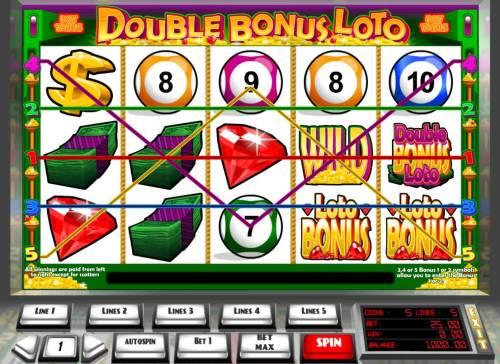 Double Bonus Loto review on Big Bonus Slots