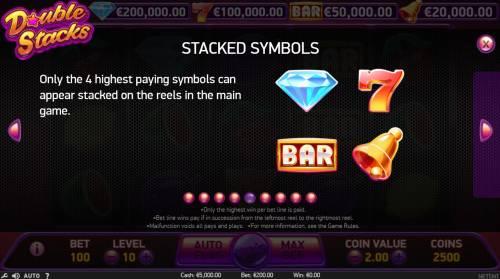 Double Stacks review on Big Bonus Slots