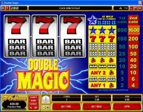 Double Magic review on Big Bonus Slots