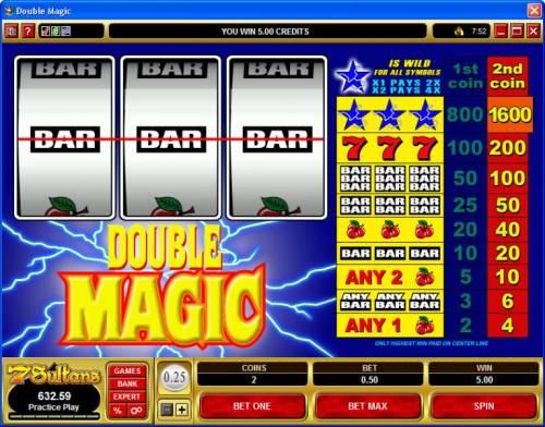 Double Magic review on Big Bonus Slots