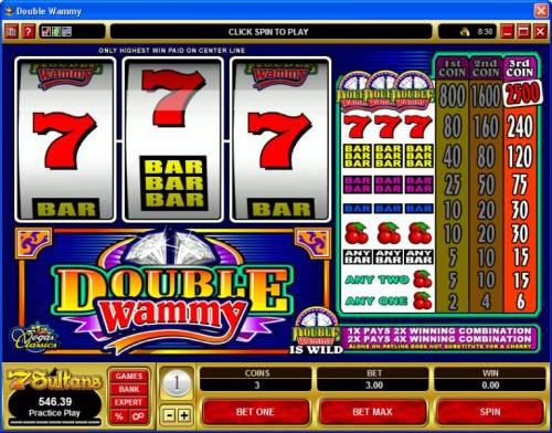 Double Wammy review on Big Bonus Slots
