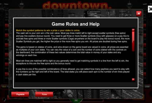 Downtown review on Big Bonus Slots