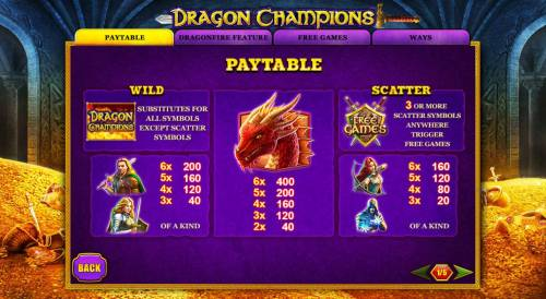 Dragon Champions review on Big Bonus Slots