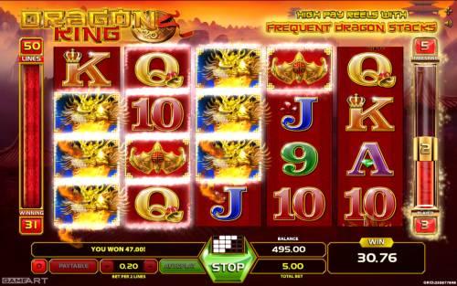 Dragon King review on Big Bonus Slots