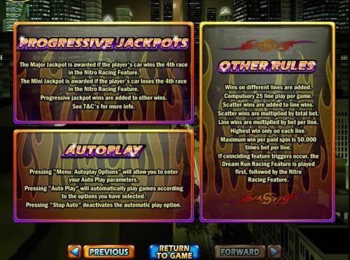 Dream Run Big Bonus Slots General Game Rules