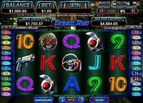 Dream Run Big Bonus Slots Main game board