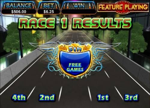 Dream Run Big Bonus Slots five frre are awarded for 5th place