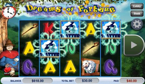Dreams of Fortune Big Bonus Slots Free Spins Feature Triggered