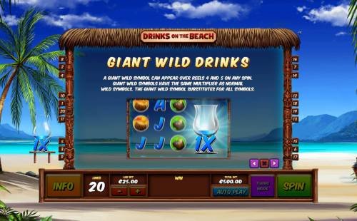 Drinks on the Beach review on Big Bonus Slots