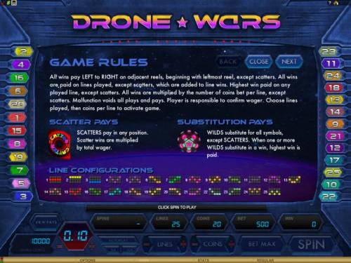 Drone Wars review on Big Bonus Slots