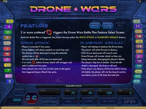 Drone Wars review on Big Bonus Slots