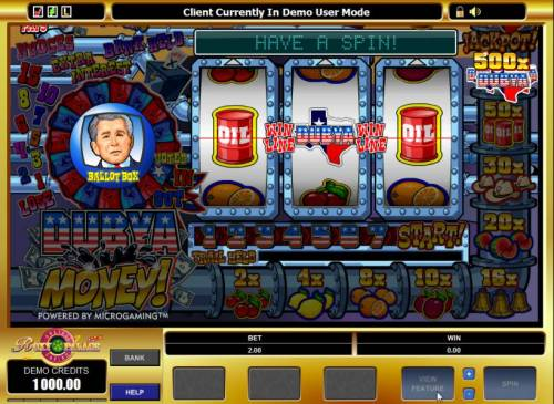 Dubya Money! review on Big Bonus Slots
