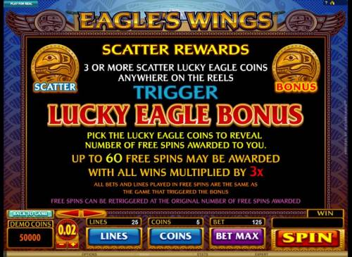 Eagle's Wings review on Big Bonus Slots