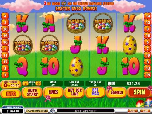 Easter Surprise review on Big Bonus Slots