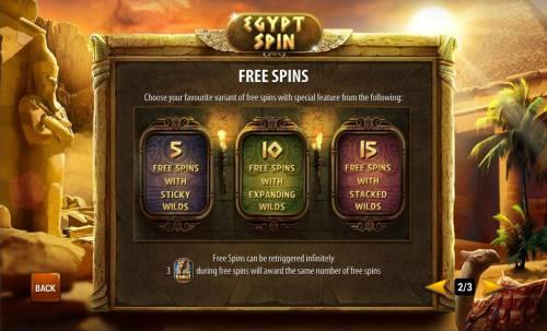 Egypt Spin review on Big Bonus Slots