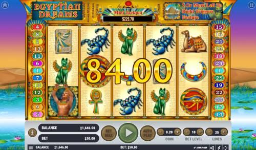 Egyptian Dreams Big Bonus Slots Four of a kind
