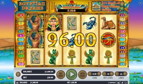 Egyptian Dreams Big Bonus Slots Multiple winning paylines