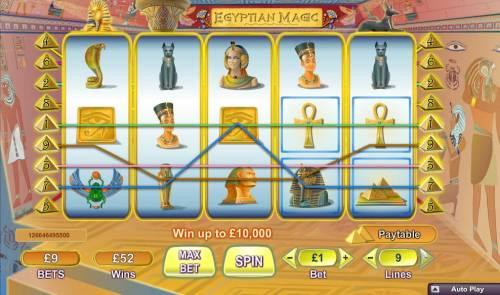 Egyptian Magic Big Bonus Slots Multiple winning paylines