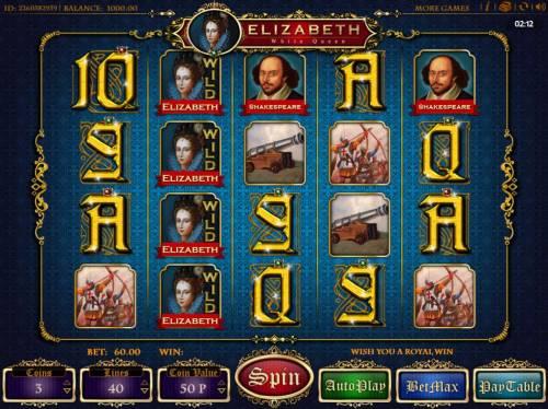 Elizabeth White Queen review on Big Bonus Slots