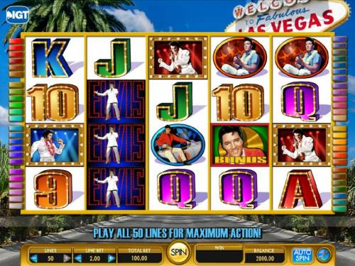 Elvis - A Little More Action review on Big Bonus Slots