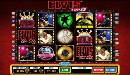 Elvis Top 20 review on Big Bonus Slots