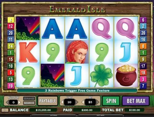 Emerald Isle review on Big Bonus Slots