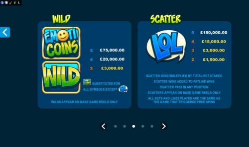 Emoticoins Big Bonus Slots Wild and Scatter Symbols Rules and Pays