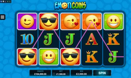 Emoticoins Big Bonus Slots Multiple winning paylines triggers a big win!