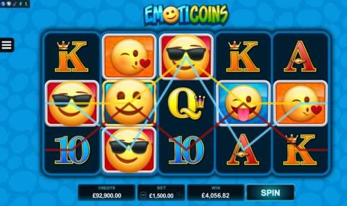 Emoticoins Big Bonus Slots Multiple winning paylines