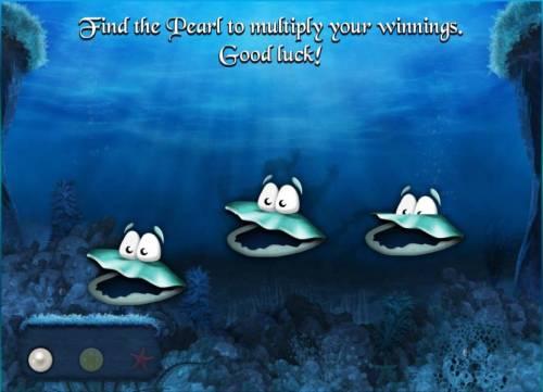 Empire of Seas Big Bonus Slots bonus feature game board - find the pearl to multiply your winnings