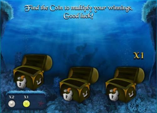 Empire of Seas Big Bonus Slots round two of the bonus round feature - find the coin