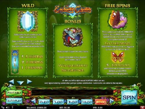 Enchanted Crystals review on Big Bonus Slots