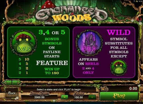 Enchanted Woods review on Big Bonus Slots