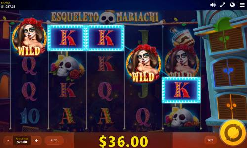 Esqueleto Mariachi Big Bonus Slots A winning five of a kind