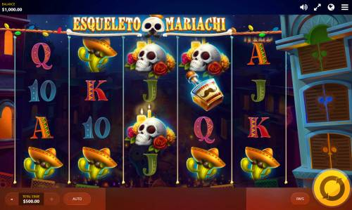 Esqueleto Mariachi Big Bonus Slots Main Game Board