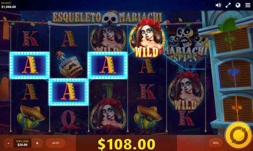 Esqueleto Mariachi Big Bonus Slots Multiple winning paylines