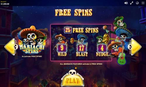 Esqueleto Mariachi Big Bonus Slots Free Spins Rules