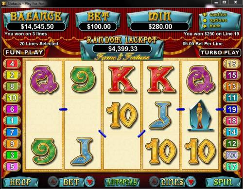 Fame and Fortune review on Big Bonus Slots