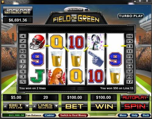 Field of Green review on Big Bonus Slots