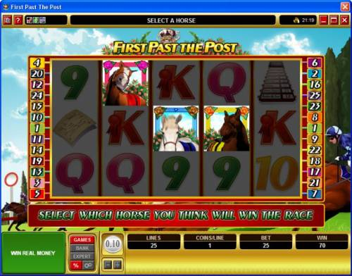 First Past The Post review on Big Bonus Slots