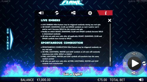 Flame review on Big Bonus Slots
