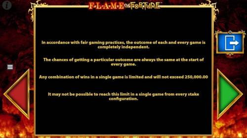 Flame of Fortune Big Bonus Slots General Game Rules - continued